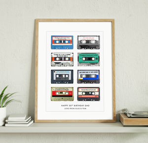 Memory Tapes Personalised Print - music
