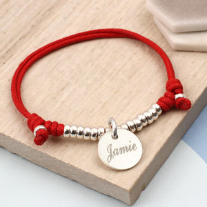 Boy's Personalised Sterling Silver Friendship Bracelet - jewellery gifts for children