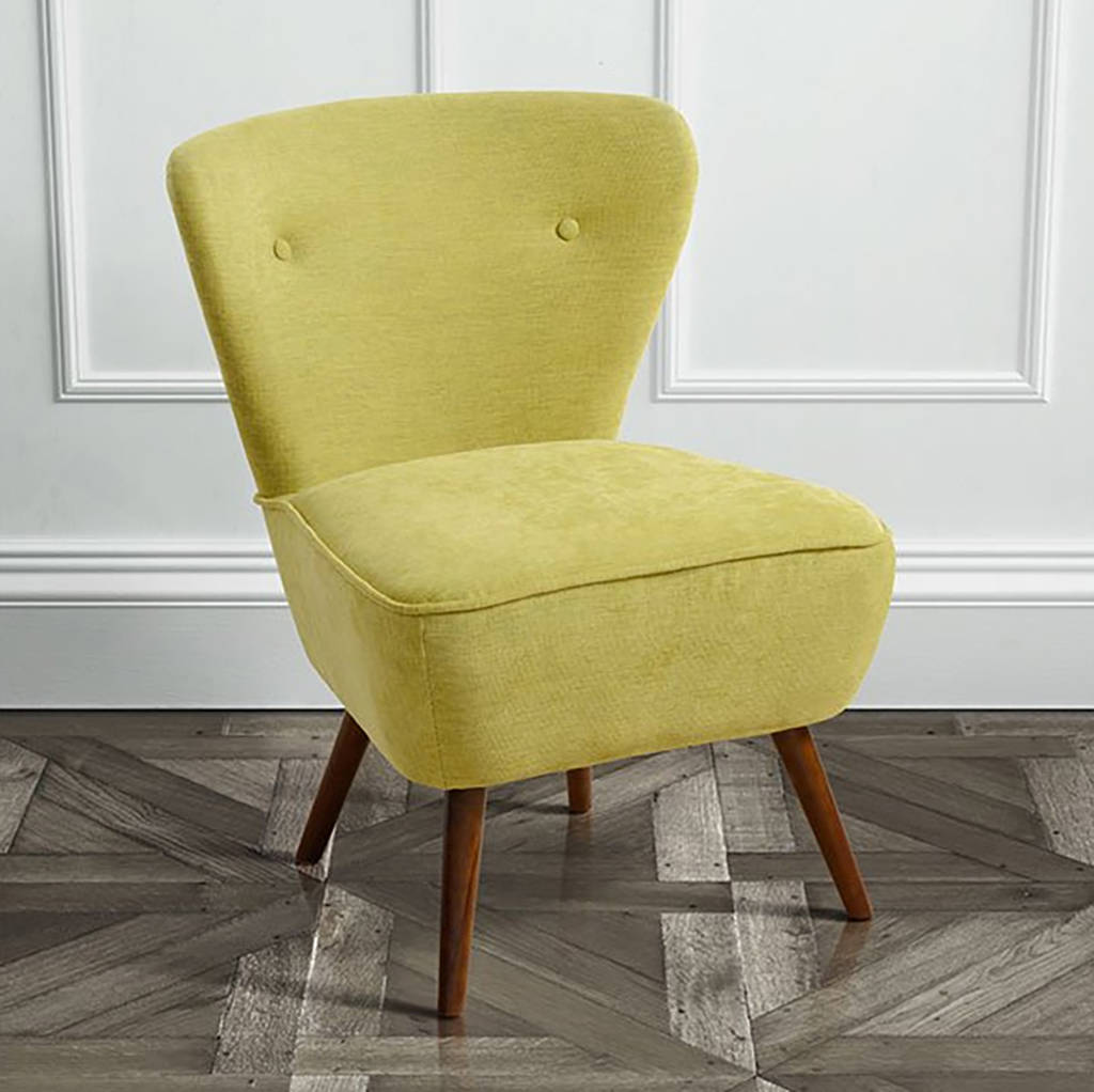 Retro 1950s Plain Cocktail Chair