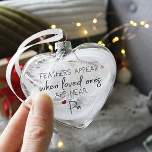 Feathers Appear When Loved Ones Are Near Bauble