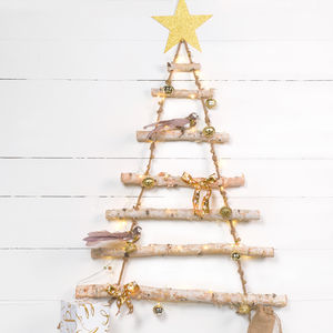 Rope Ladder Birch Wood Tree - christmas trees