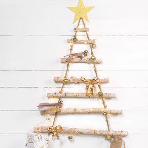 Rope Ladder Birch Wood Tree - winter luxury styling