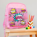 Personalised Comic Style 'Kapow' Children's Backpack