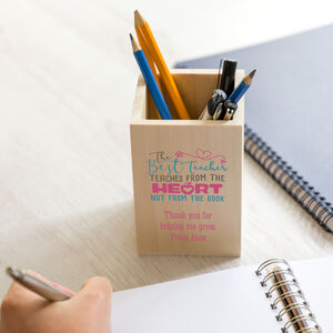 Personalised Best Teacher Pen And Pencil Pot