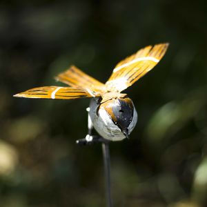Flying Sparrow Recycled Metal Garden Sculpture - sculptures & ornaments