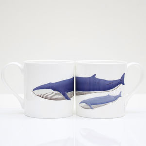 Blue Whale Bone China Mug - mugs