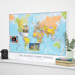 Personalised Map Of The World - children's room