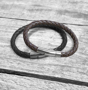 Personalised Hidden Note Leather Bracelet - valentine's gifts for him