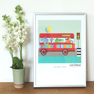 Animal Bus Art Print