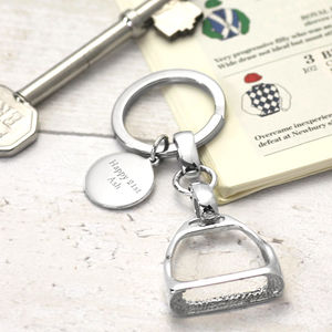 Silver Stirrup Key Ring