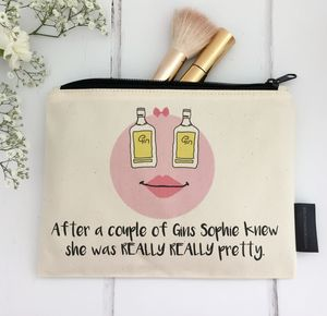 'After A Couple Of Gins…' Personalised Make Up Bag - bags & purses