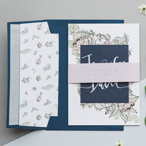 Rose And Eucalyptus Botanical Wedding Invitations - invitations