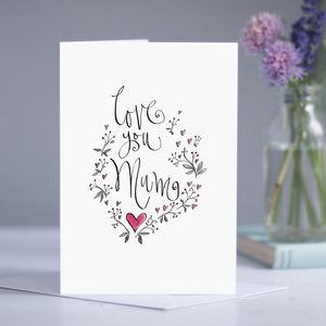 Personalised 'Love You Mum' Card