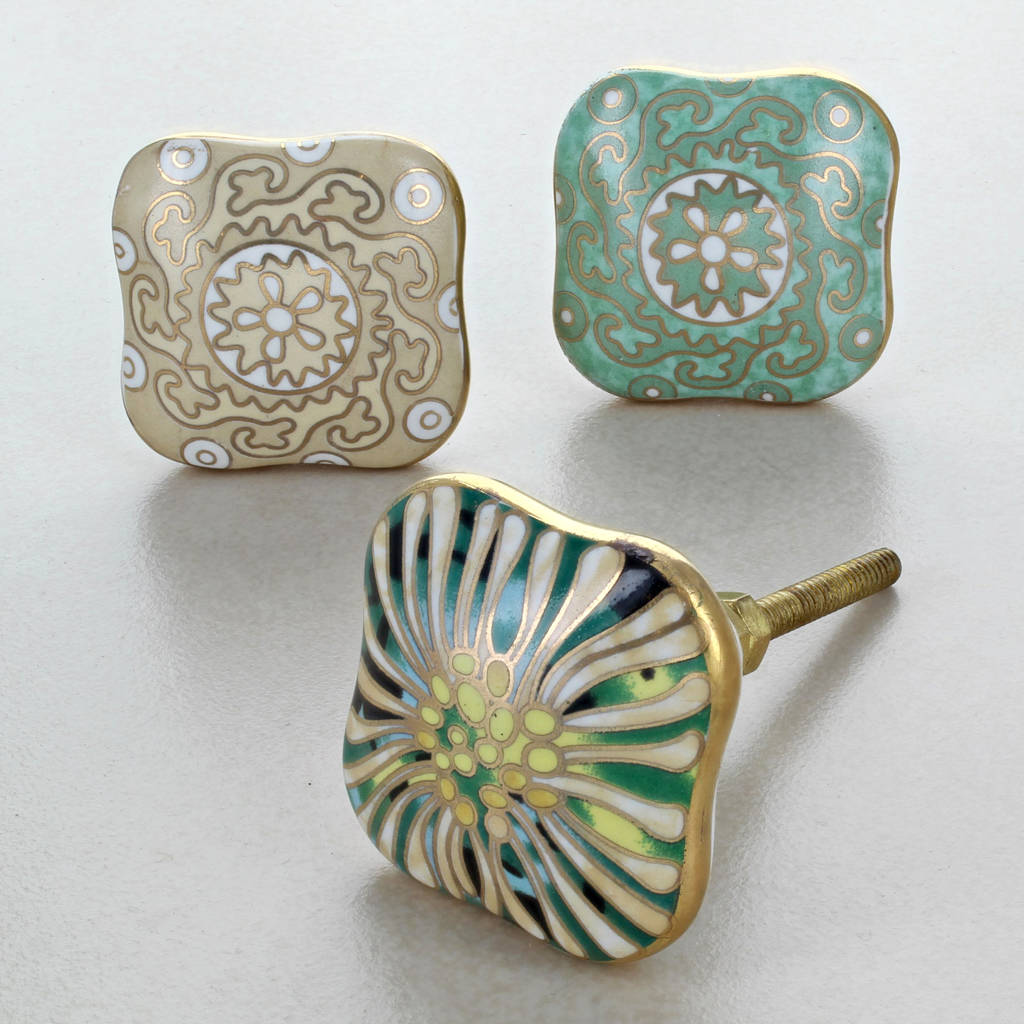 Nice Milano Collection Ceramic Door Knobs Cupboard Handles