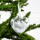 Personalised In Loving Memory Christmas Heart Bauble