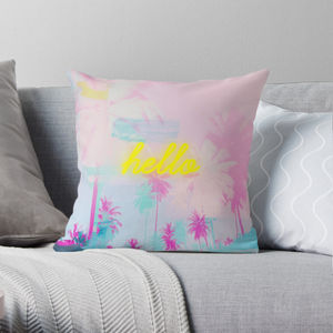 Palm Tree Cushion - bedroom