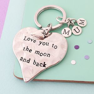 Love You To The Moon And Back Keyring - keyrings
