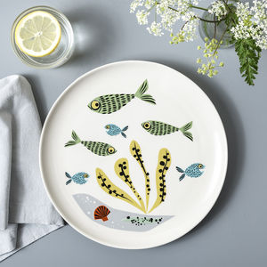 Handmade Ceramic Fish Dinner Plate