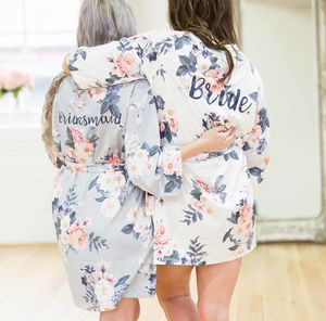 Isabella Personalised Bridal Wedding Robe Gown - bridal-edit