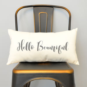 'Hello Beautiful' Cushion - cushions