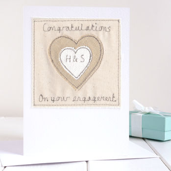 Personalised Heart Engagement Card