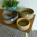 Shallow Jute And Seagrass Baskets