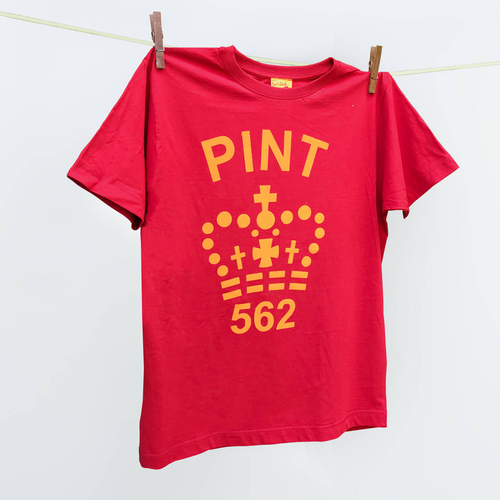 c2516b7c matching father's day pint t shirts orange /red by twisted twee ...