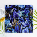Woodland Undergrowth Leaves Glass Coaster Set