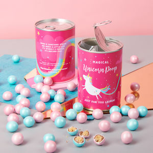 Personalised Magical Chocolate Unicorn Poop In A Can - novelty chocolates