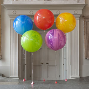 3ft Giant Marble Balloons - decoration
