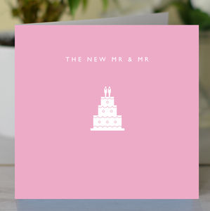 'The New Mr And Mr' Gay Wedding Card - wedding cards