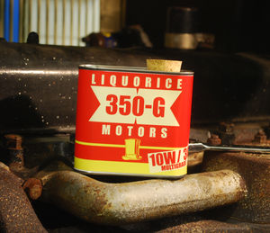 Liquorice Motors Red And Yellow Tin