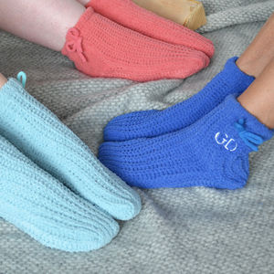 Embroidered Slipper Socks - socks