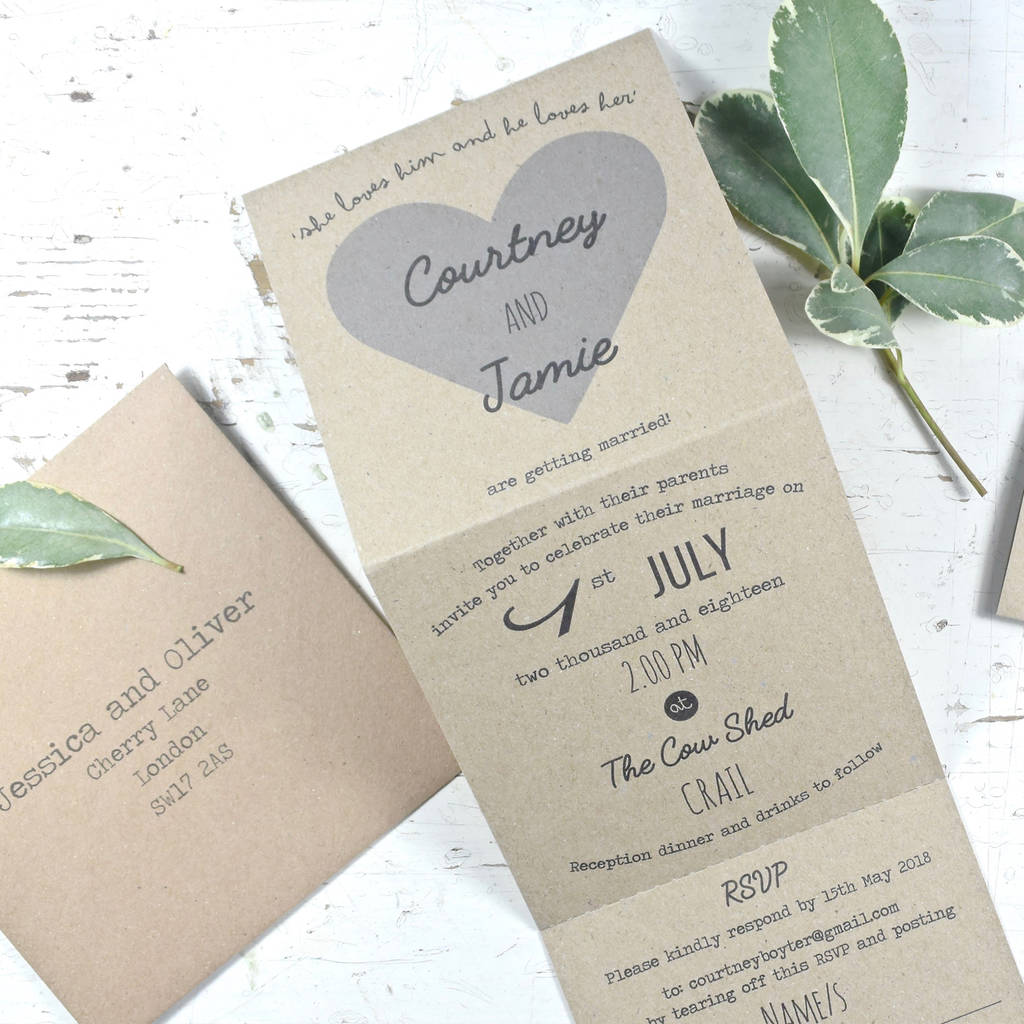 Luxury Folding Wedding Invitations | Wedding Ideas