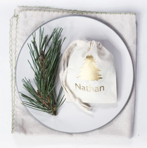 Personalised Christmas Tree Place Setting Bag