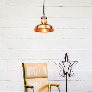 Industrial Copper Pendant Light - pendant lights