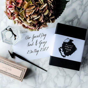 Personalised Wedding Date Calligraphy Kit - wedding wedmin