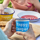 Personalised Painted Enamel Camping Set