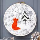Personalised Child's Woodland Fox Hoop