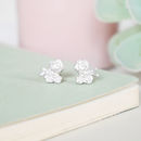 Sterling Silver Floral Cluster Stud Earrings