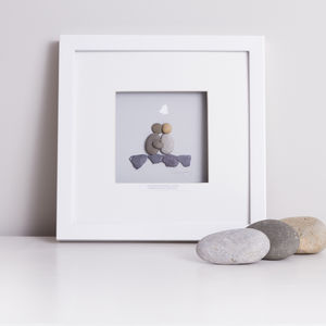 Personalised Wedding Pebble Artwork