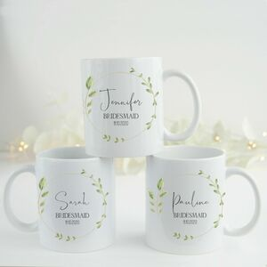 Personalised Bridesmaid Gift Mugs