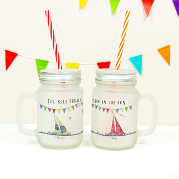 Personalised Boat Family Mason Jar