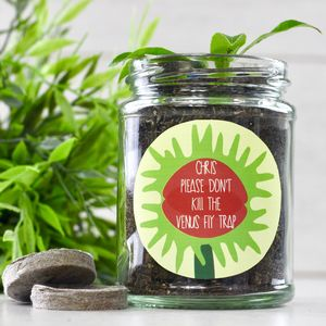 Personalised 'Don't Kill Me' Venus Fly Trap Jar