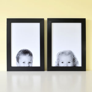 Peeping Portrait Personalised Photo Print - new in baby & child