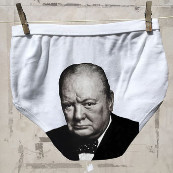 Men's Political Pants Churchill underwear