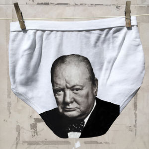 Political Pants Underwear For Men And Ladies Churchill