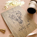 Personalised Stag Wooden Wedding Print