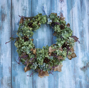Dried Hydrangea And Heather Wreath