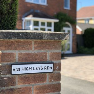 Old Fashioned Street Sign Style House Number - decorative accessories